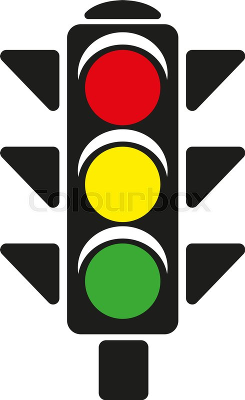 490x800 Traffic Light Stock Vector Colourbox