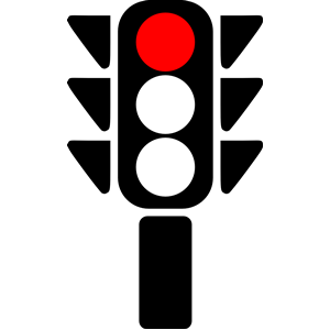 300x300 Traffic Light Clipart Red