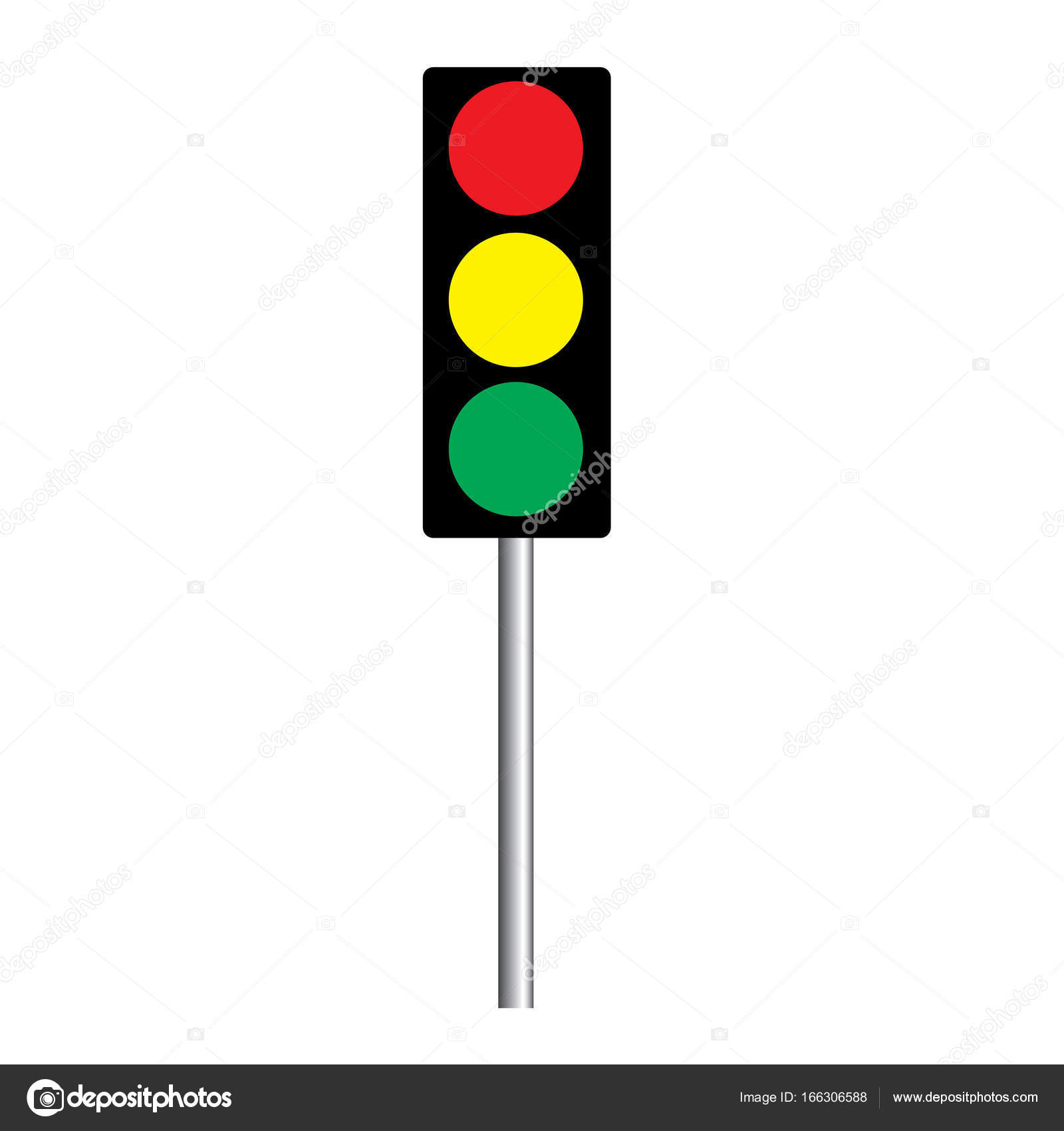 1600x1700 Traffic Light Interface Icons. Red, Yellow Green (Go, Stop
