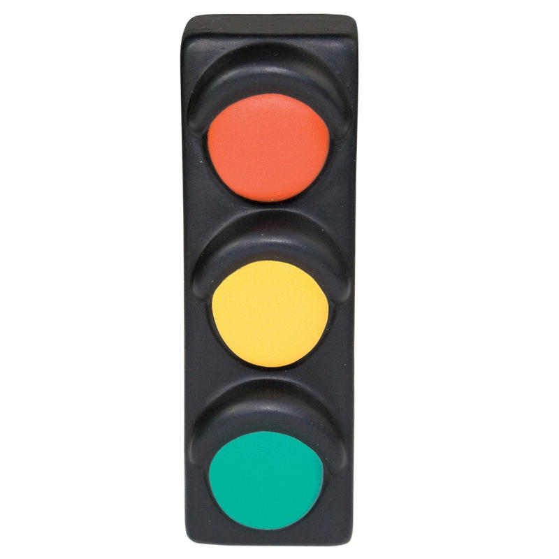 800x800 Squeeze Yellow Traffic Light Stress Balls