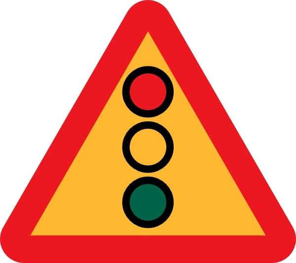 600x533 Traffic Lights Ahead Sign Clip Art Free Vector In Open Office