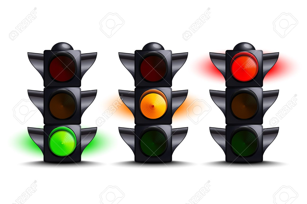 1300x866 Traffic Lights On Green, Yellow, Red Royalty Free Cliparts