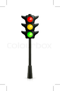 211x320 Traffic Lights On White Background Stock Vector Colourbox