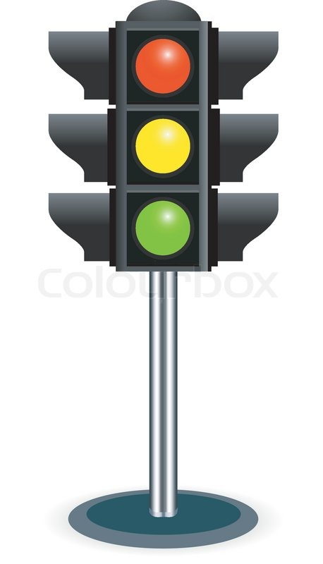 458x800 Traffic Lights Vector Isolated On White Background Stock Vector