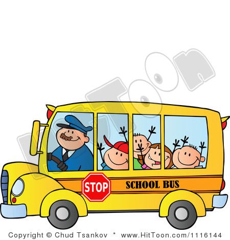 450x470 School Bus Superman Clipart