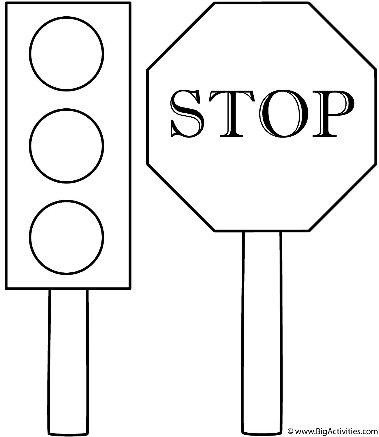 1300x1500 Traffic Light And Stop Sign