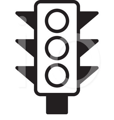 400x420 Traffic Clipart Black And White