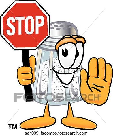 392x470 Clip Art Of Salt Holding Stop Sign Salt009