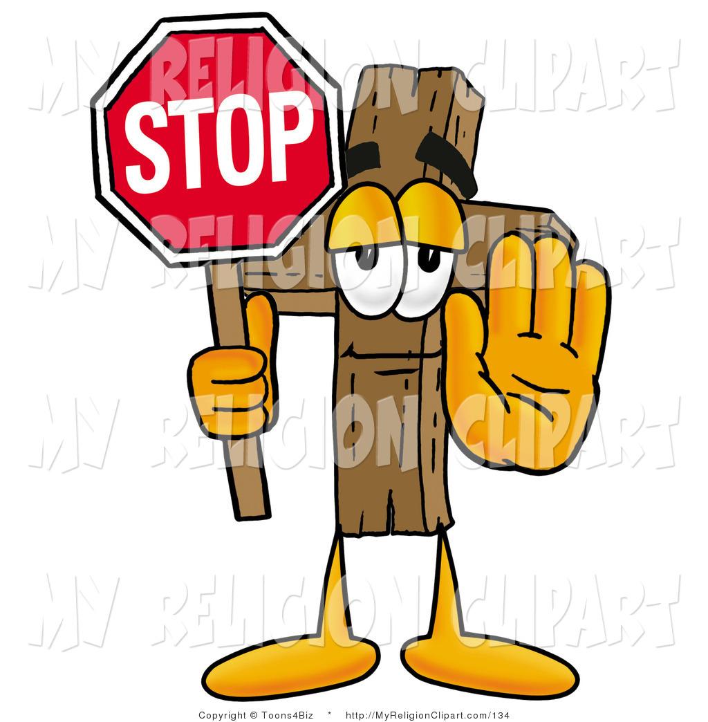 1024x1044 Religion Clip Art Of A Wooden Christian Cross Mascot Cartoon