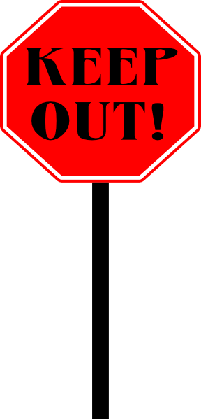 288x599 Stop Keep Out Sign Clip Art