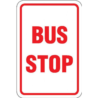 320x320 Bus Stop Signs Clipart