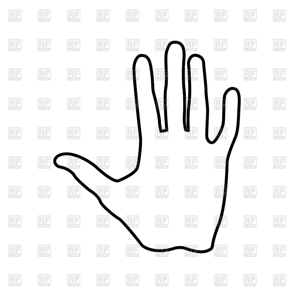 1200x1200 Hand Gesture Stop Royalty Free Vector Clip Art Image