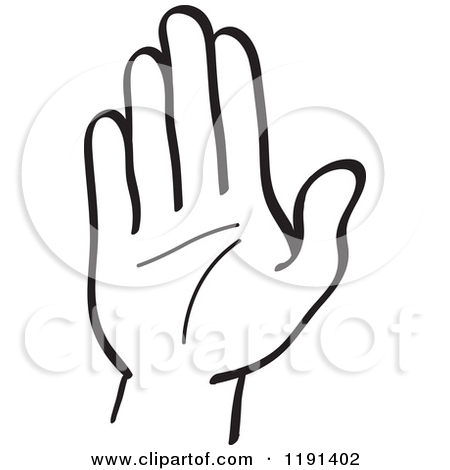 450x470 Stop Hand Clipart