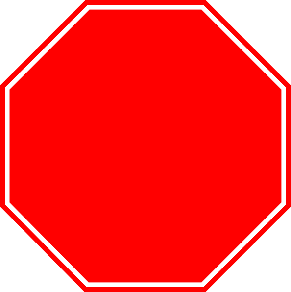 594x596 Stop Sign Black And White Clipart