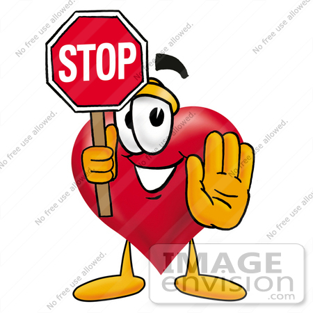 450x450 Cliprt Graphic Of Red Love Heart Cartoon Character Holding
