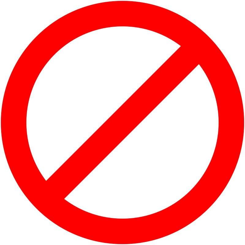 800x800 Not Allowed Symbol Clipart