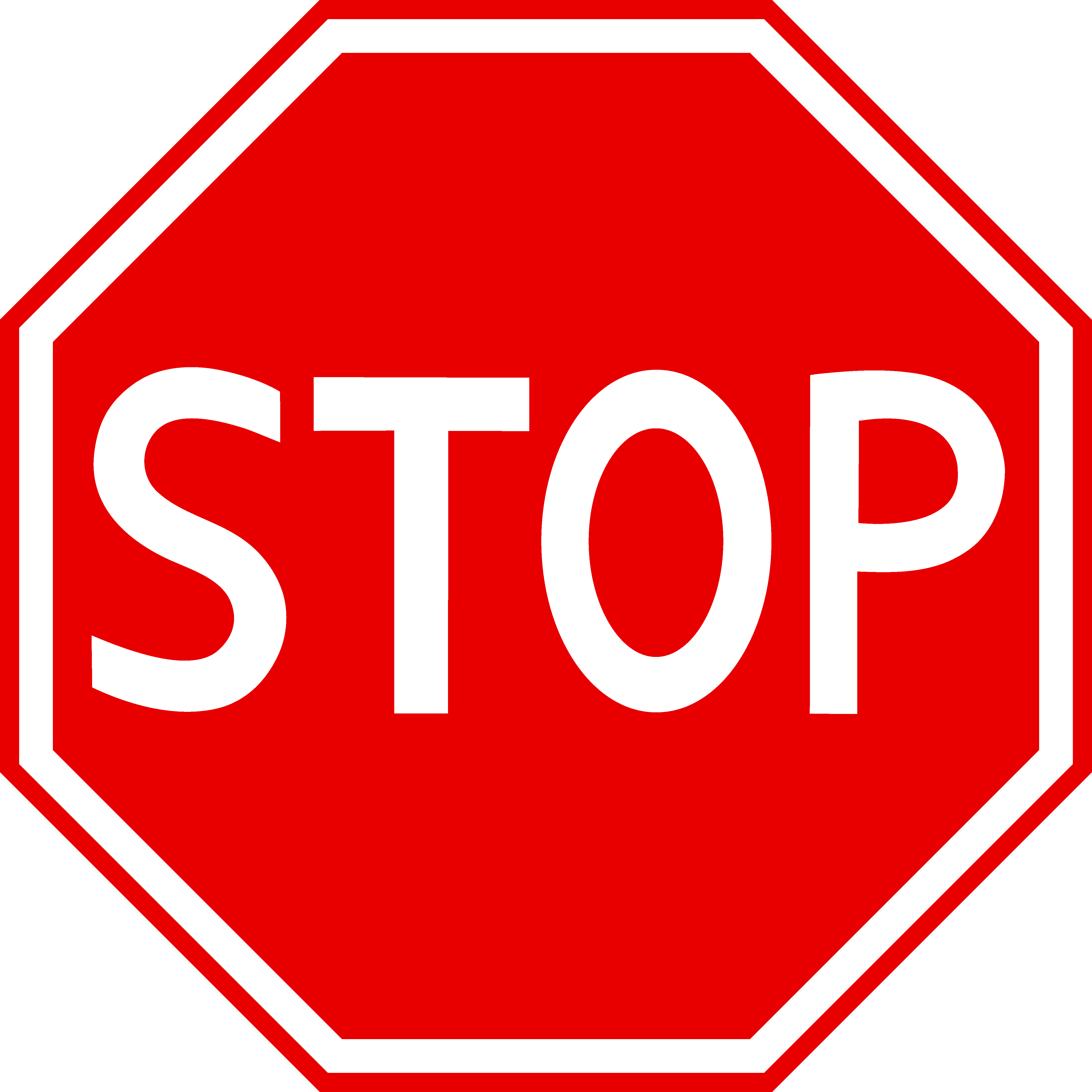 4731x4731 Red Stop Sign Clipart