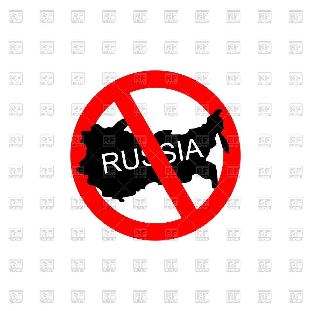1200x1200 Red Stop Sign With Russia, Stop Russian Aggressors Royalty Free