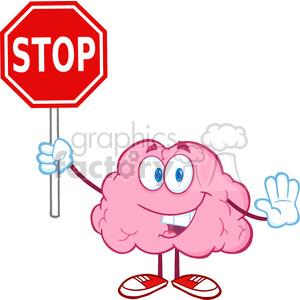 300x300 Royalty Free 5836 Royalty Free Clip Art Brain Cartoon Character
