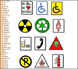 300x266 Sign Clipart Free Road Sign Clip Art, Stop Signs, Recycle Signs