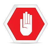 170x157 Stop Hand Clip Art