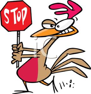 290x300 Art Image Rooster With Stop Sign