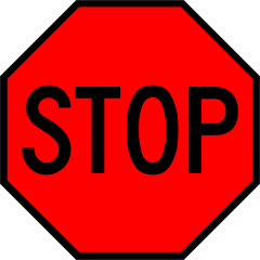 240x240 Printable Stop Sign Clipart