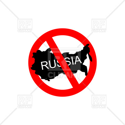 400x400 Red Stop Sign With Russia, Stop Russian Aggressors Royalty Free