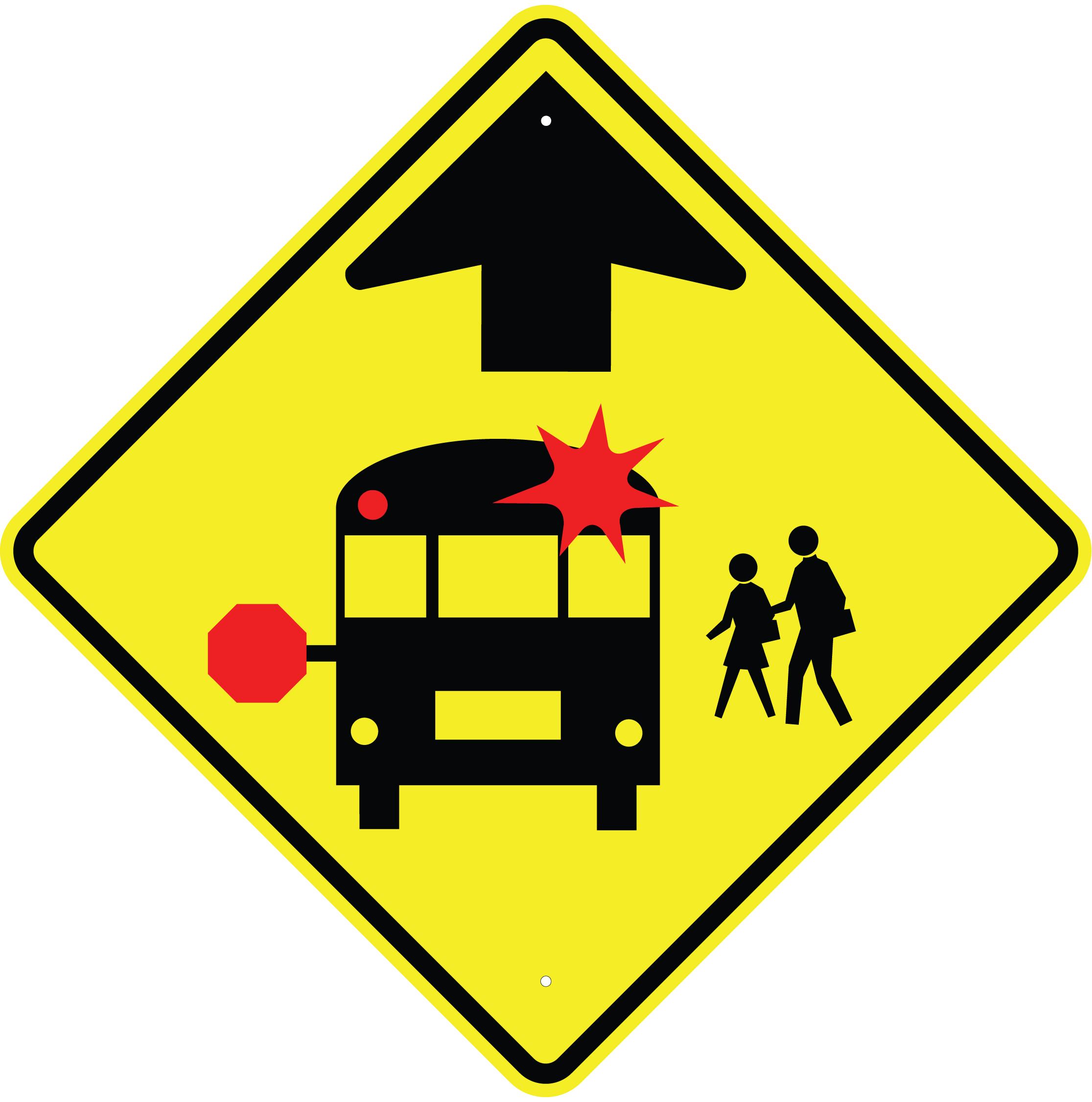 2231x2250 School Bus Stop Sign Clipart