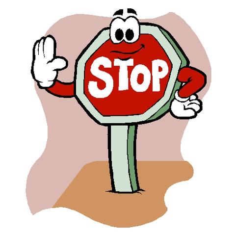 481x481 Stop Sign Clip Art 4