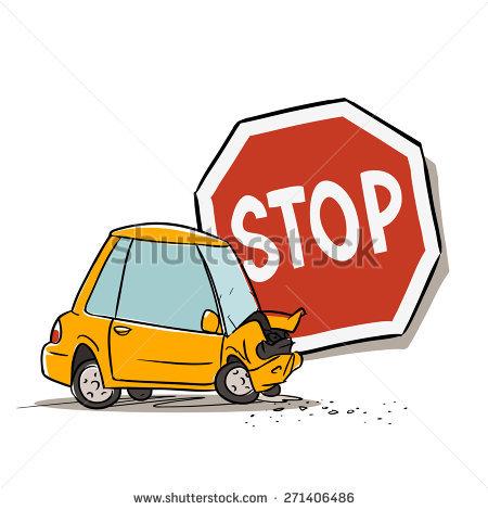 450x470 Car Clipart Stop Sign