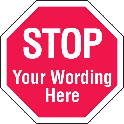 400x400 Custom Stop Signs, Custom Signs, Custom Products Seton