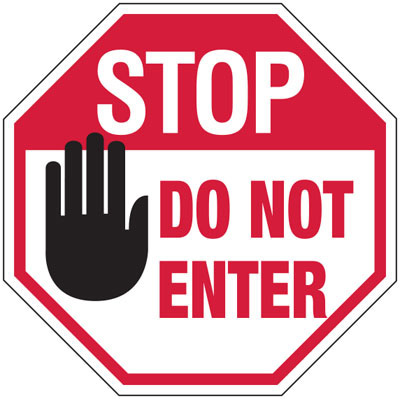 400x400 Stop Do Not Enter No Admittance Stop Signs From Stock