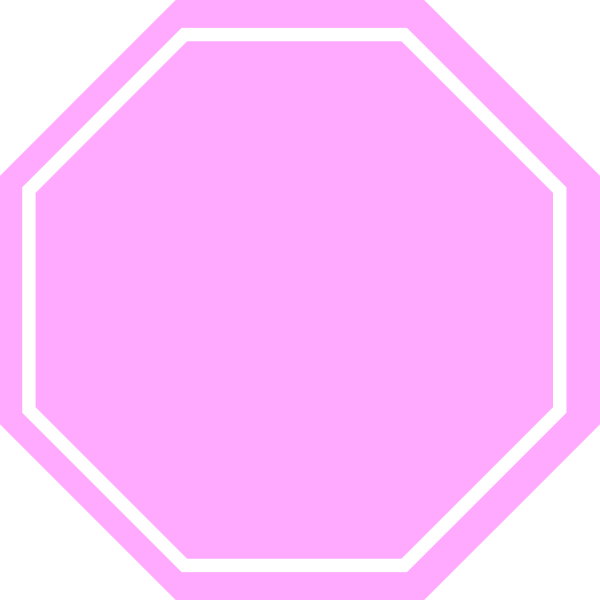600x600 Pink Stop Sign Clip Art