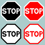 150x150 Road Stop Sign Royalty Free Vector Clip Art Image