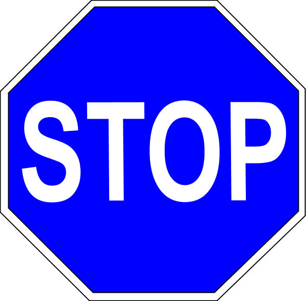 600x591 Stop Sign Vector Clip Art