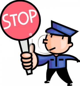 279x300 Traffic Control Officer With A Stop Sign Clip Art Image