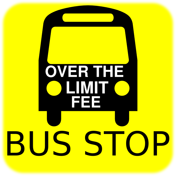 600x600 Bus Stop Sign Clip Art
