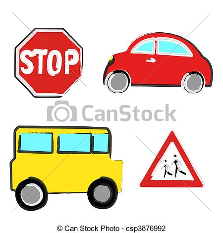 450x470 Car Clipart Stop Sign