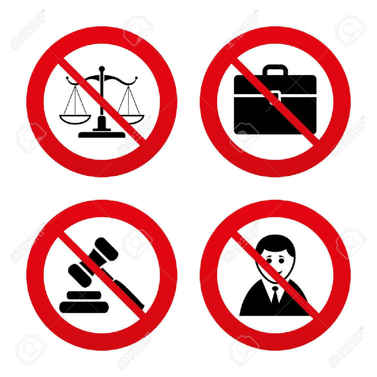 1300x1300 No, Ban Or Stop Signs. Scales Of Justice Icon. Client Or Lawyer