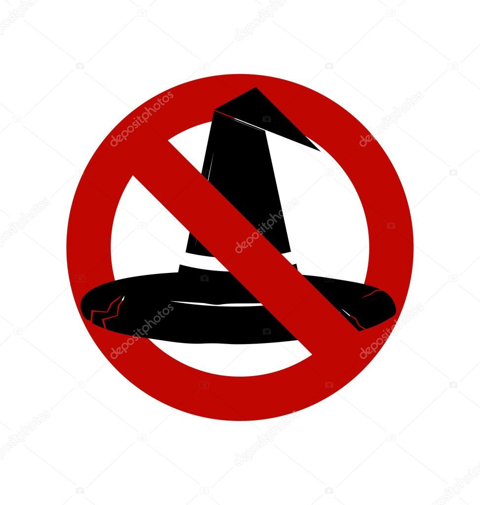 972x1023 No, Ban Or Stop Signs. Halloween, Witch Hat Icon, Prohibition Fo