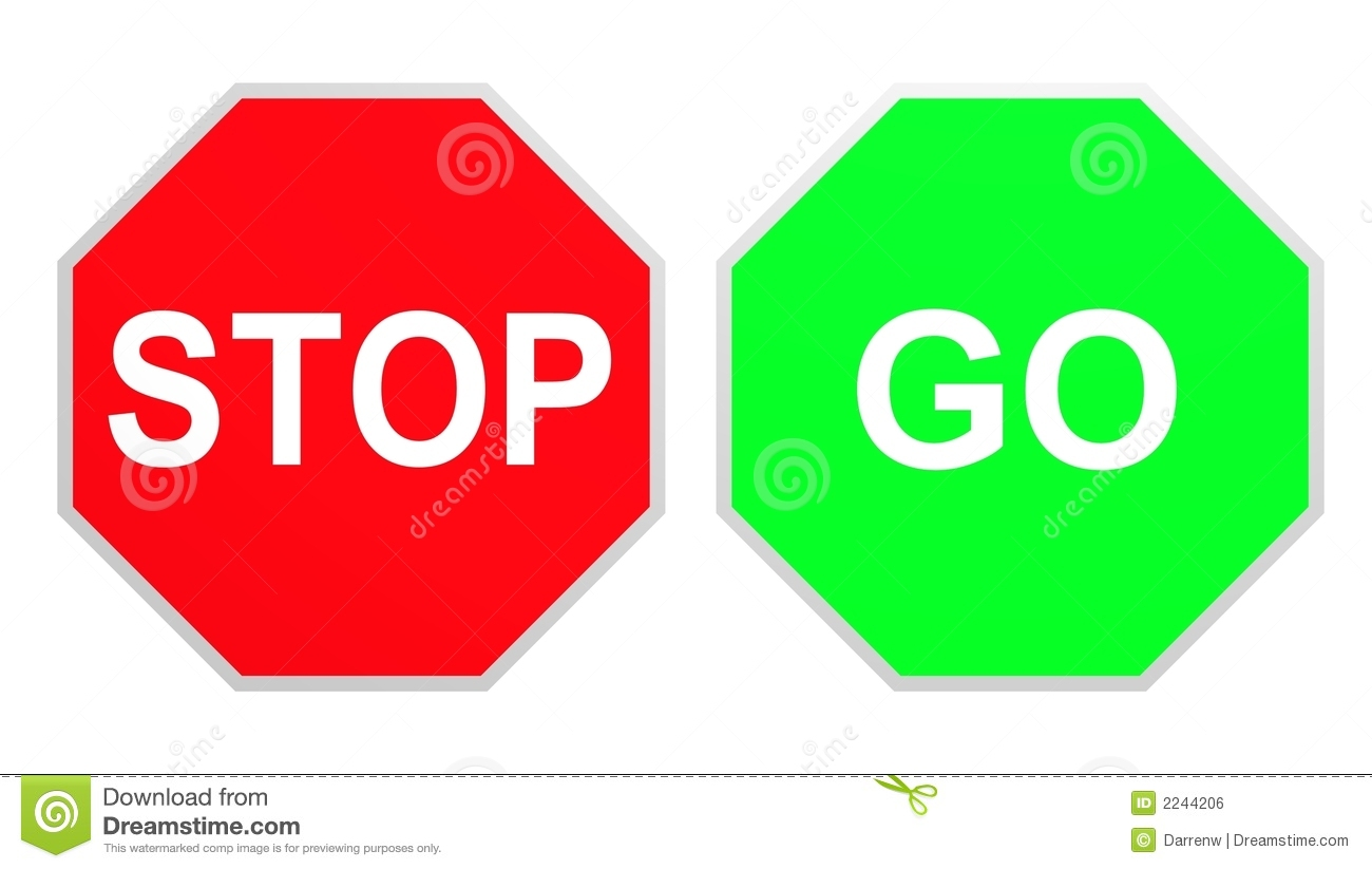 1300x823 Stop And Go Signs Clipart