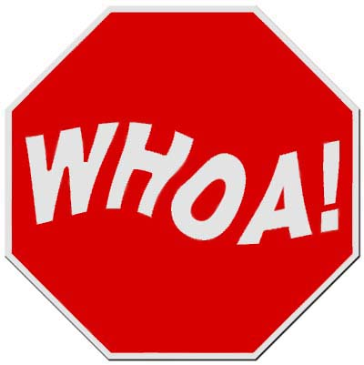 400x401 Whoa Stop Sign Horse Love Garlic Supplements