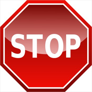 350x350 Free Clipart Of A Stop Sign