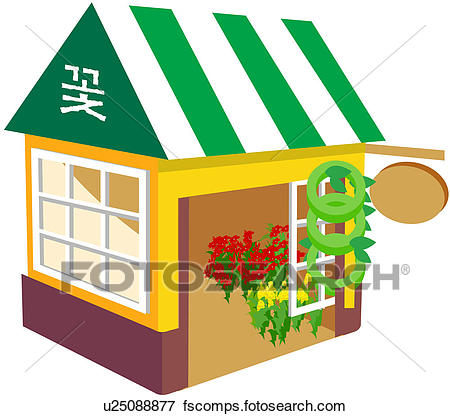 450x416 Clip Art Of Mart, Flower Shop, Mall, Store, Florist`s Shop, Icon