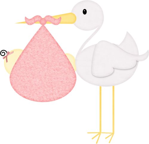 Stork And Baby Clipart