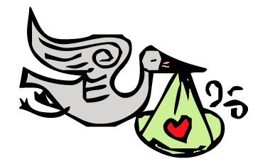 363x231 Stork Clipart Baby Icon