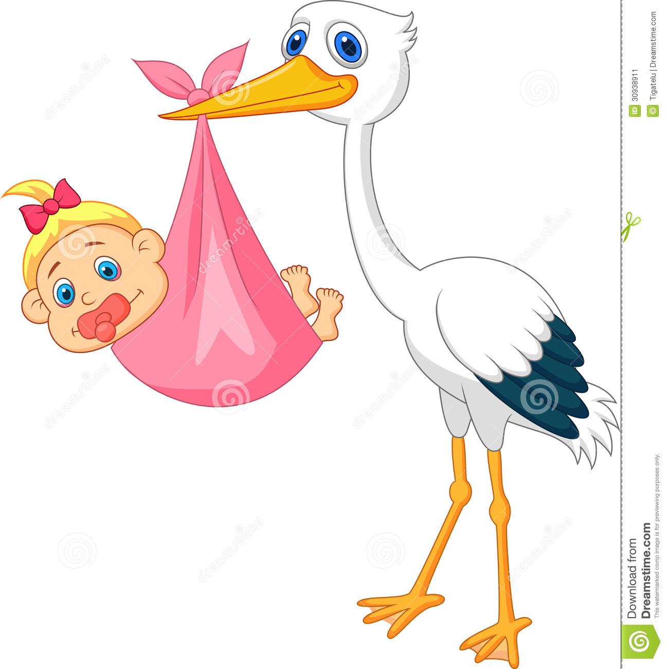 1297x1300 Baby Girl Stork Clipart