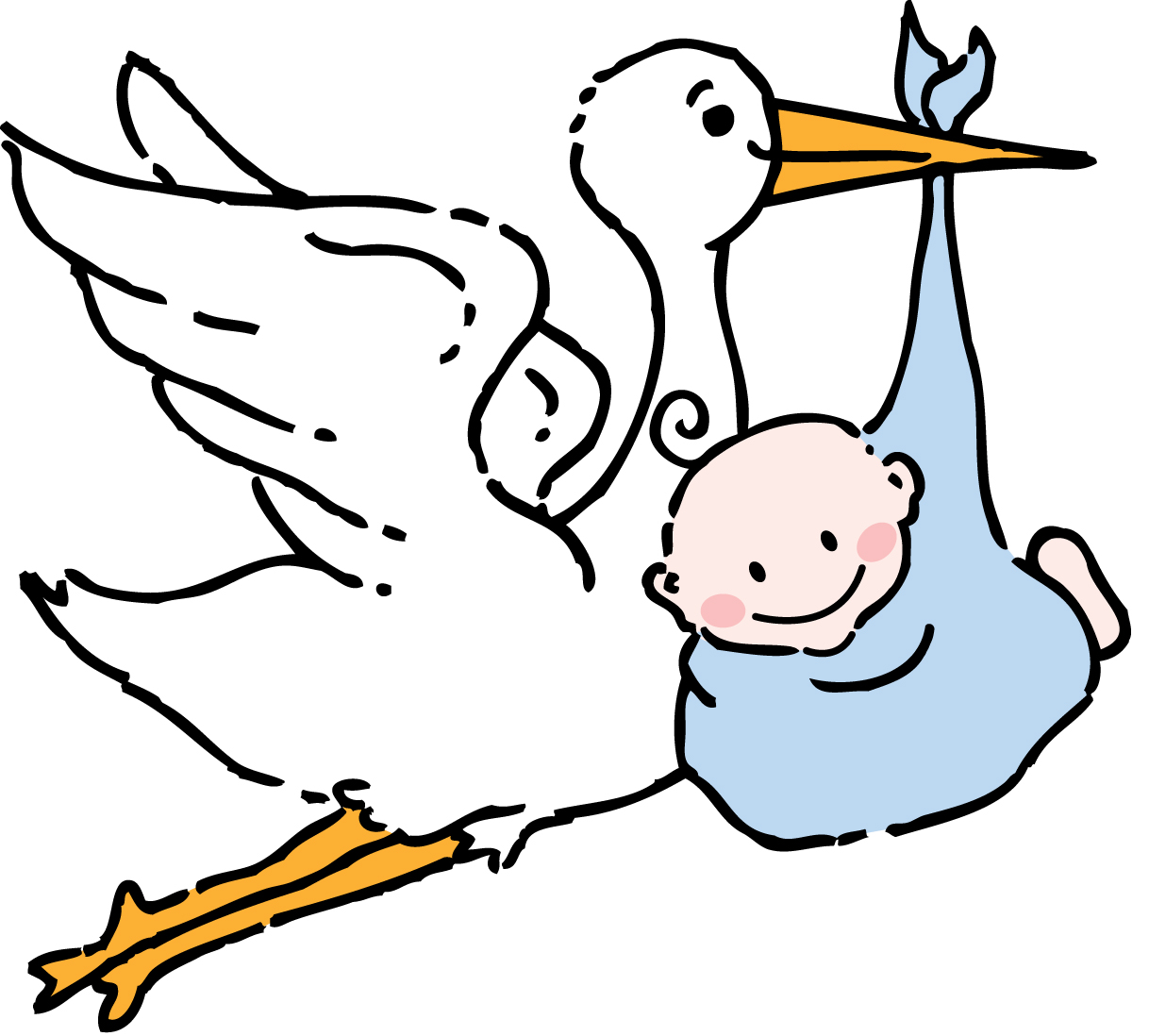 1218x1098 Free Baby Clipart Stork Image