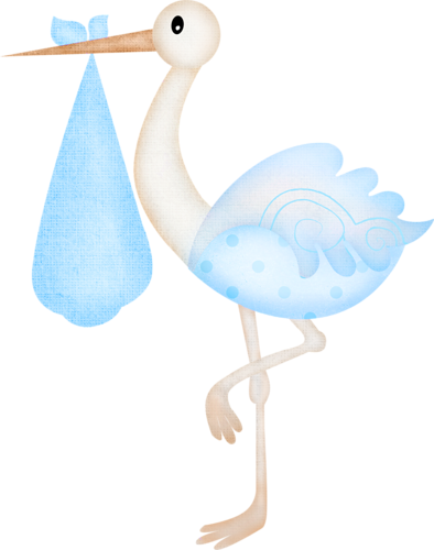 394x500 Standing Stork Baby Shower Babies, Clipart Baby